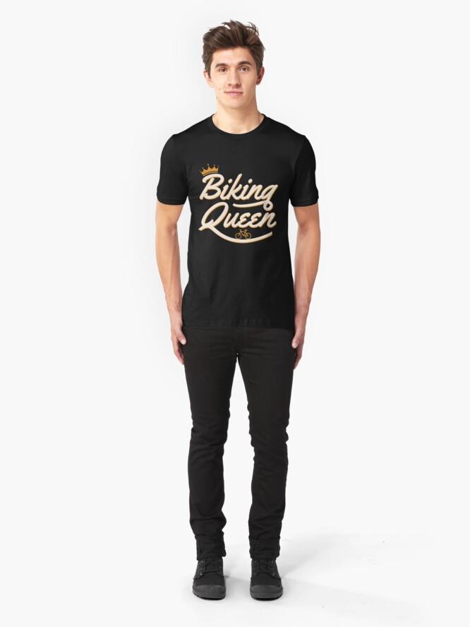 Alternative Ansicht von Biking Queen Biking Couple - Funny Cycling  Gift Slim Fit T-Shirt