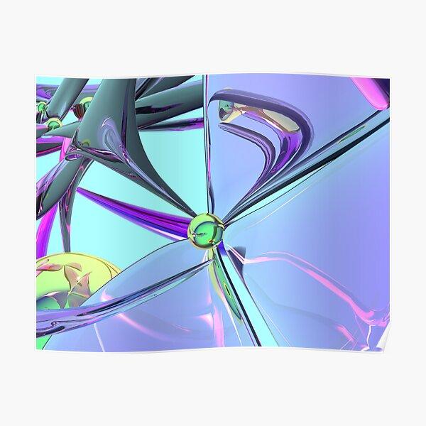 lookinglass blooms Poster