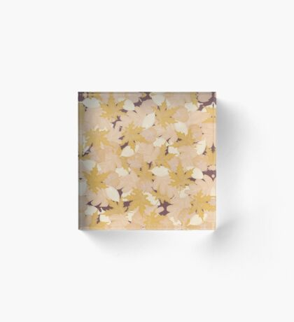 Muted Fall #redbubble #fall Acrylic Block