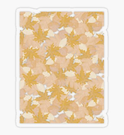 Muted Fall #redbubble #fall Transparent Sticker