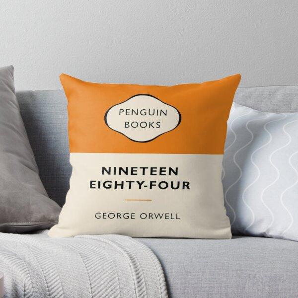Penguin Book  Throw Pillow