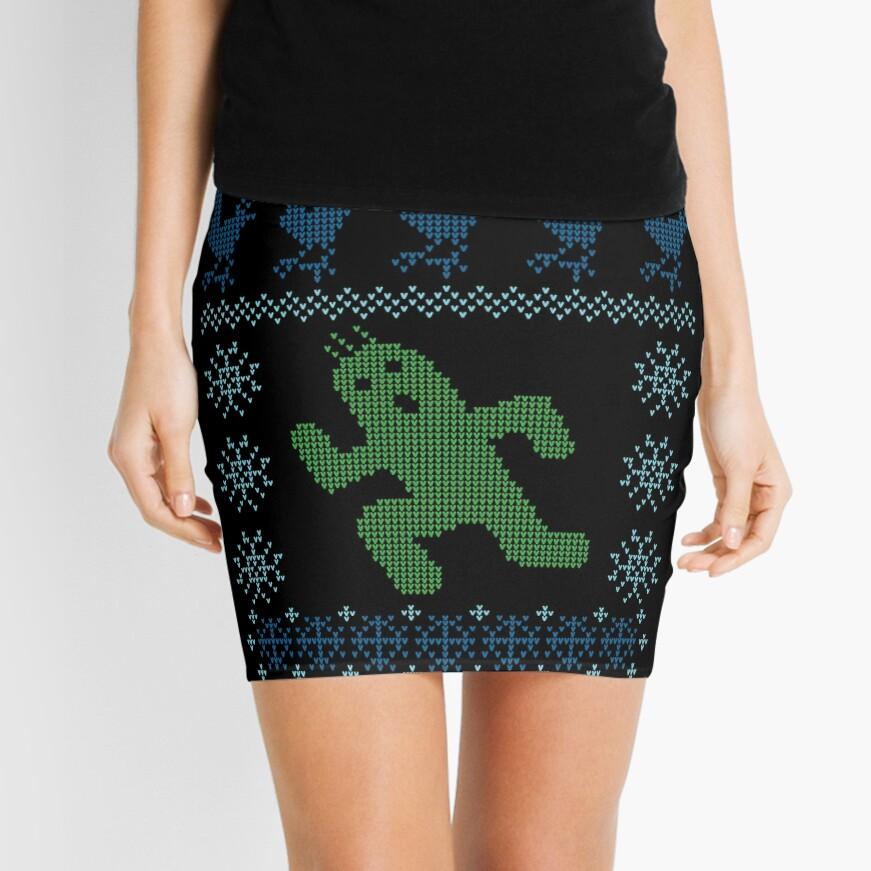 Christmas Cactus Mini Skirt