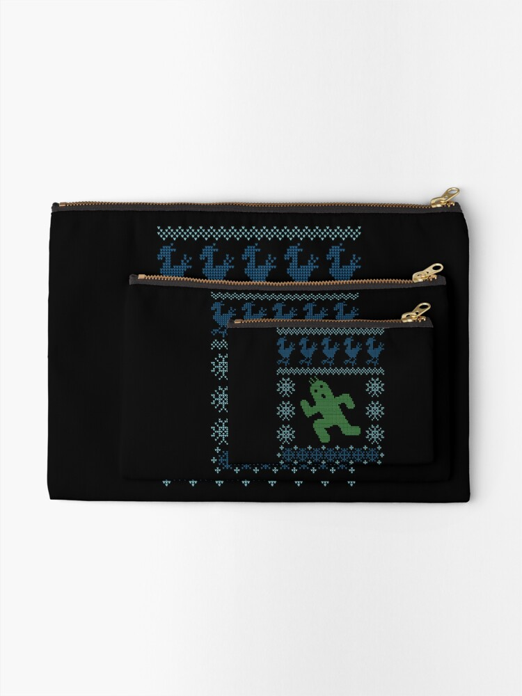Alternate view of Christmas Cactus Zipper Pouch