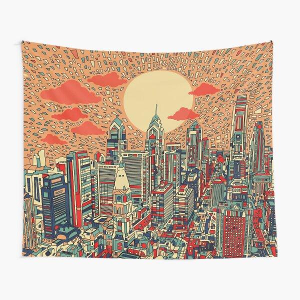 philadelphia panorama 2 Tapestry