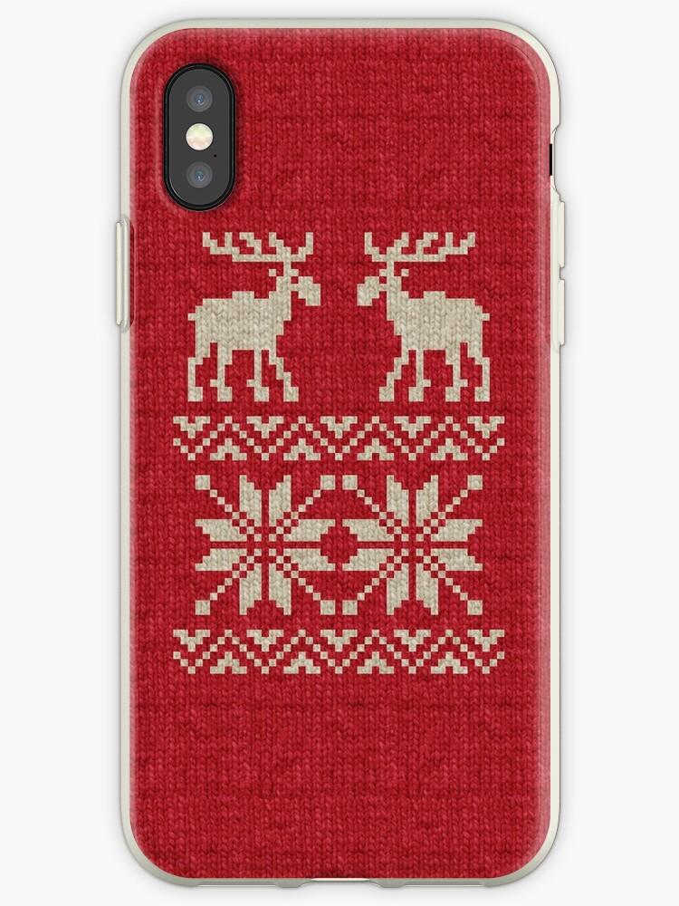 4b68bc866 Moose Pattern Christmas Sweater Knit