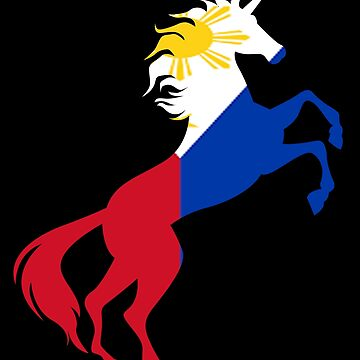 Unicorn Philippine Flag Gift by Reutmor