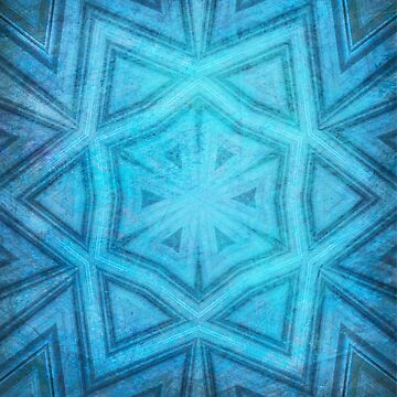 Blue textured striped kaleidoscope by hereswendy