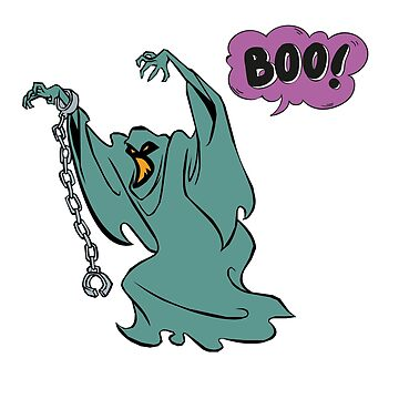 Helloween Boo Scary Cartoon Ghost  by Grampus