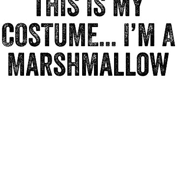 This is my costume I'm a marshmallow - Halloween by alexmichel