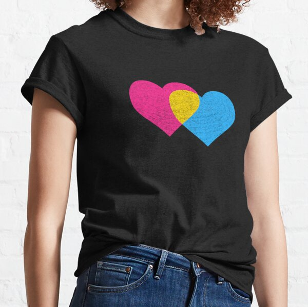 Pansexual- Double Heart - Twin Flame Classic T-Shirt