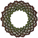 Celtic Knotwork Tree Wreath by Carrie Dennison
