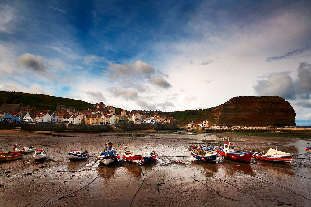 The Fishing Fleet at Rest, Staithes by Robin Whalley