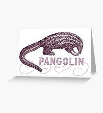 Pangolin Scaly Ameisenbär Grußkarte