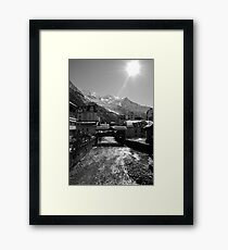 Chamonix Bridge Framed Print
