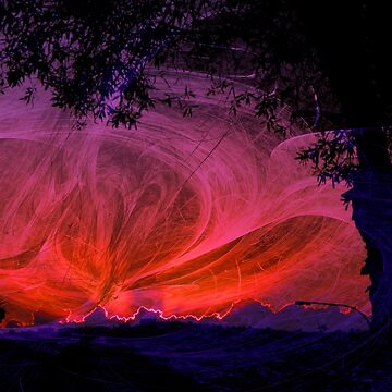 Fiery fractal sunset by hereswendy