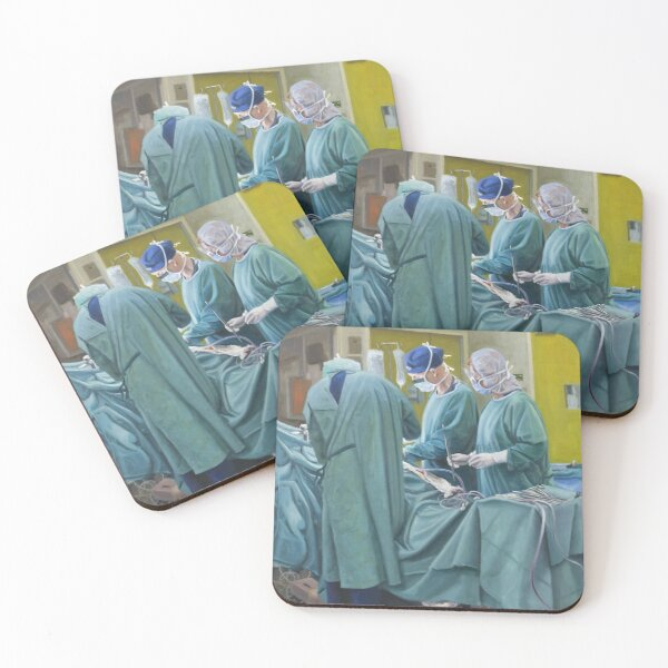 Veiled Vocation - Oil on canvas by Avril Thomas Coasters (Set of 4)