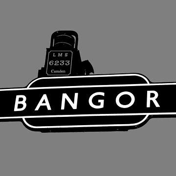 Bangor railway sign by derbyshireduck