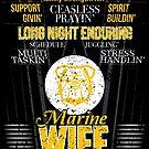 Husband Adorin Stress Handlin Schedule Jugglin Long Night Endurin Marine Wife by shoppzee