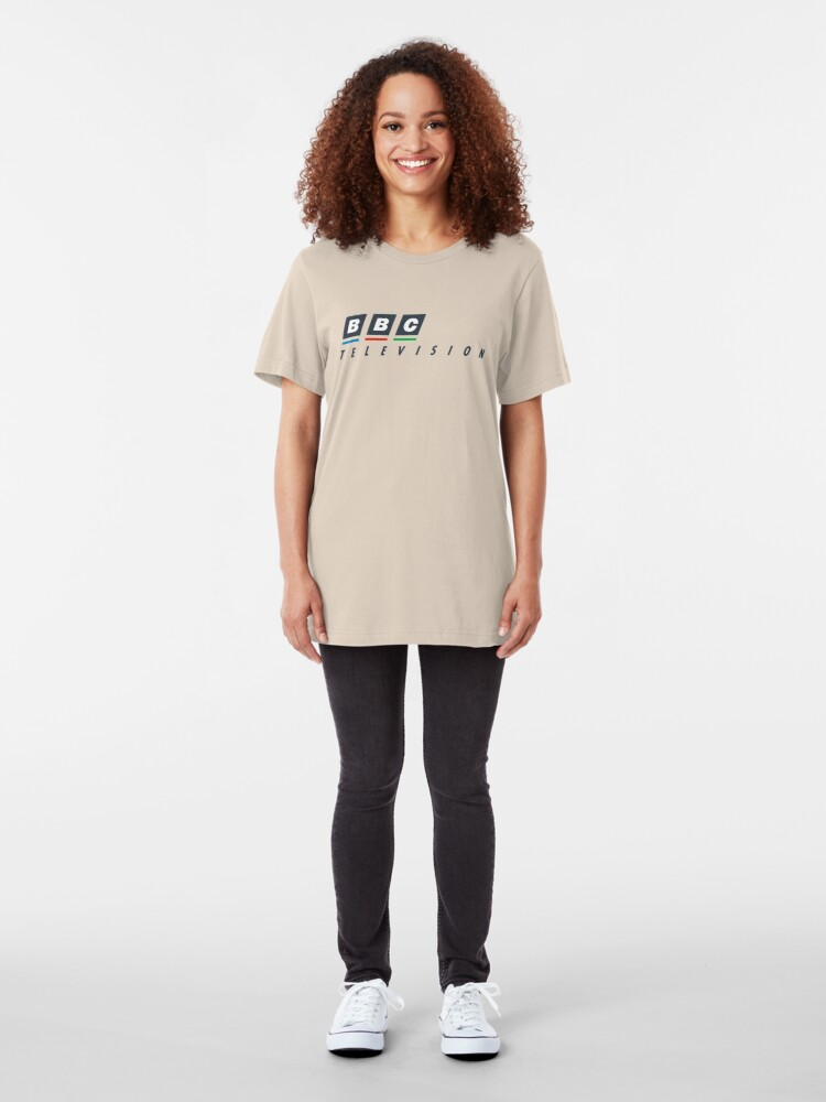 Alternate view of BBC television circa 1988 Slim Fit T-Shirt