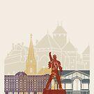 Montreux Skyline Poster von paulrommer