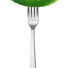 Cucumber on a fork by 6hands