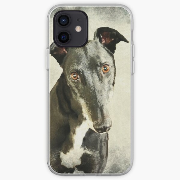 Greyhound Watercolour (1) iPhone Soft Case