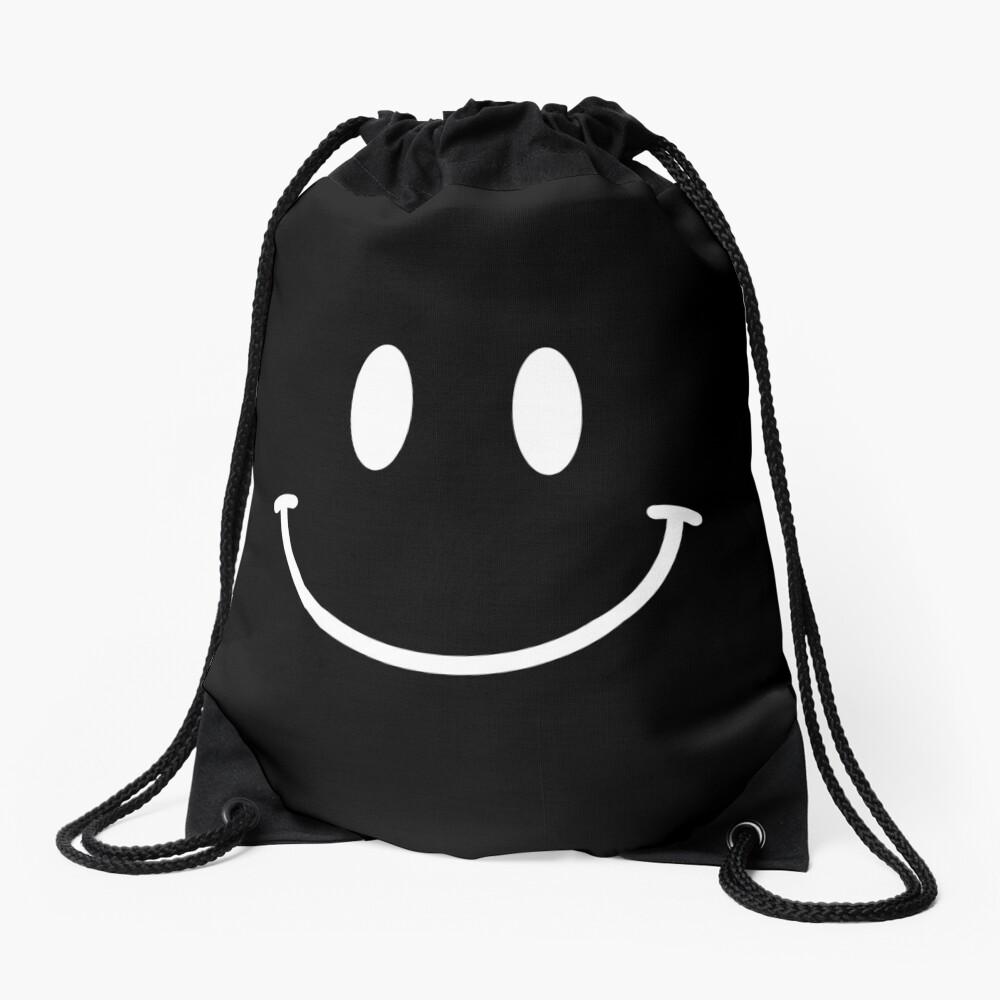 Acid House Smiley Face - Simple (dark) Drawstring Bag