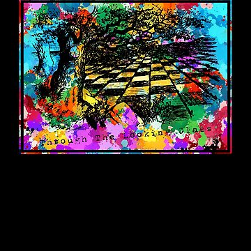 Forest Chessboard Mosaic - Alice in Wonderland - Through the Looking Glass by KoolMoDee