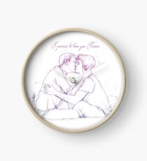 Mystrade - I promise to love you Forever Clock