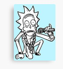 Rick Sanchez from Rick and Morty™ Getting Schwifty Canvas Print