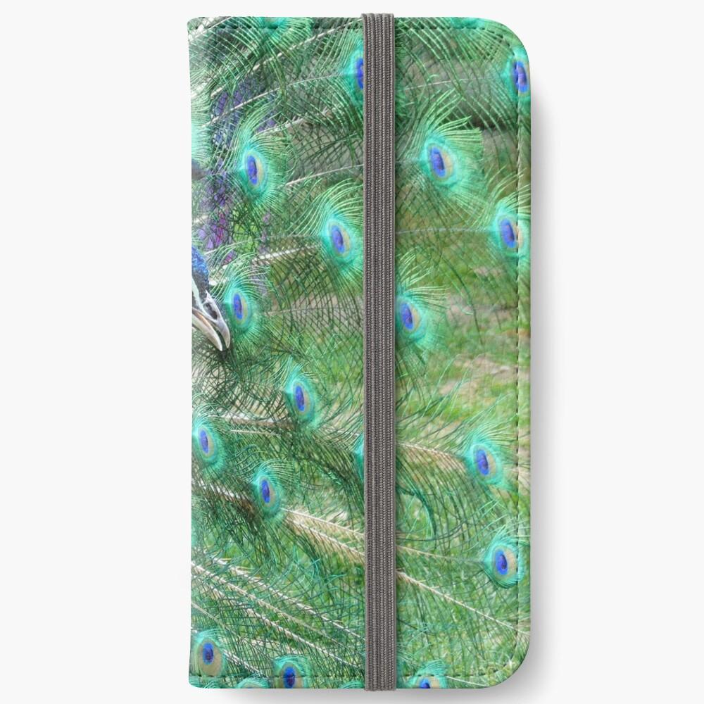 Peacock in bloom iPhone Wallet