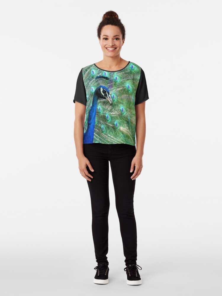 Alternate view of Peacock in bloom Chiffon Top