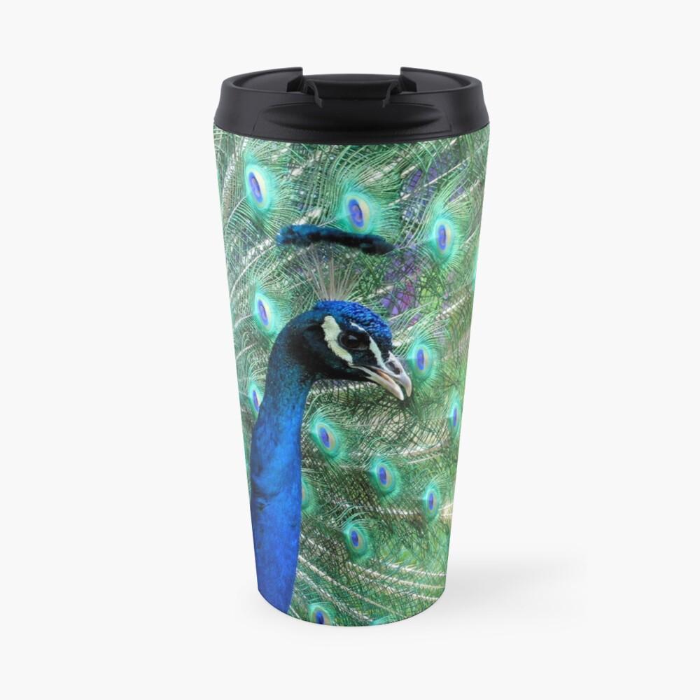 Peacock in bloom Travel Mug