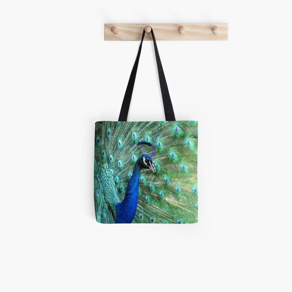 Peacock in bloom Tote Bag