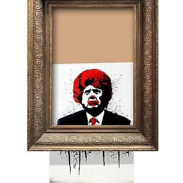 Banksy Art Parody Anti Trump Shirt / Dump Trump / President Donald Trump / Sotheby's Banksy Balloon Girl Shredded Art Funny Parody by kolbasound