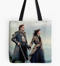 Outlander Diana Gabaldon season 4 Jamie and Claire  Tote Bag
