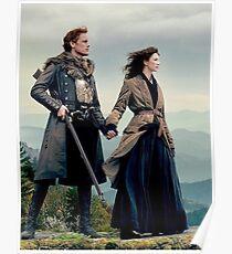 Póster Outlander Diana Gabaldon temporada 4 Jamie y Claire
