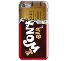 Wonka Bar phone case with ticket iPhone Case/Skin