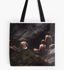 Cooling Off at Emerald Pool Tote Bag