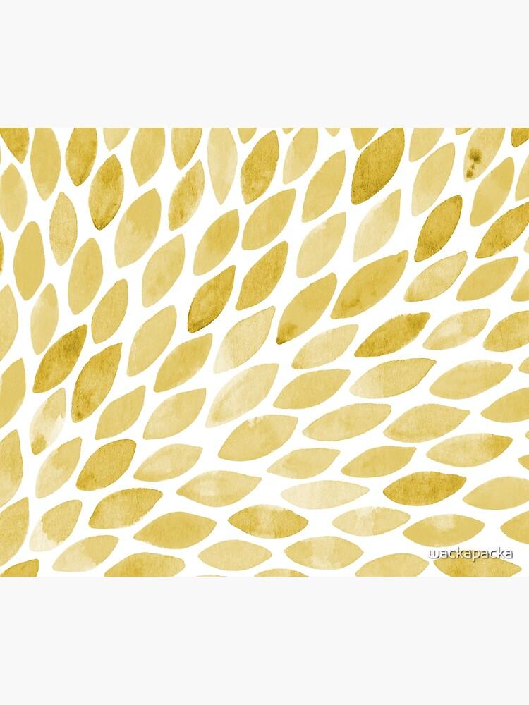 Watercolor brush strokes - yellow by wackapacka