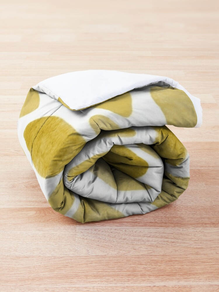 Alternate view of Watercolor brush strokes - yellow Comforter