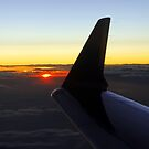 Sunset at 37,000 ft by Irvin Le Blanc