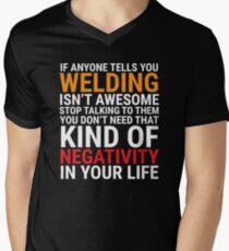 Funny Welder Welding Is Awesome T-shirt Men's V-Neck T-Shirt