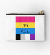 Panromantic Flag Asexual Flag Asexual I'm Ace T-Shirt Studio Pouch