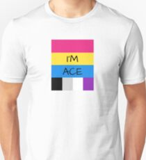 Panromantic Flag Asexual Flag Asexual I'm Ace T-Shirt Unisex T-Shirt