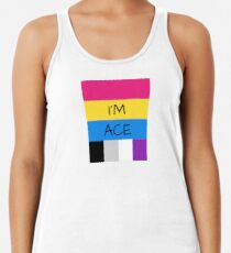 Panromantic Flag Asexual Flag Asexual I'm Ace T-Shirt Women's Tank Top