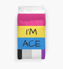 Panromantic Flag Asexual Flag Asexual I'm Ace T-Shirt Duvet Cover