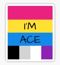 Panromantic Flag Asexual Flag Asexual I'm Ace T-Shirt Sticker