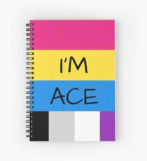 Panromantic Flag Asexual Flag Asexual I'm Ace T-Shirt Spiral Notebook