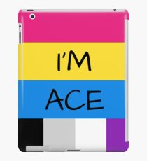 Panromantic Flag Asexual Flag Asexual I'm Ace T-Shirt iPad Case/Skin